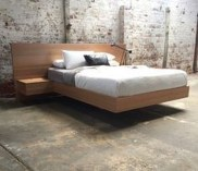 Casual Contemporary Floating Bed Design Ideas For You06