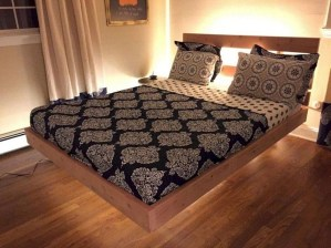 Casual Contemporary Floating Bed Design Ideas For You22