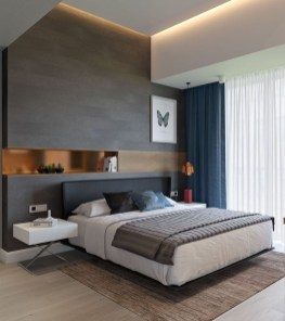Casual Contemporary Floating Bed Design Ideas For You37