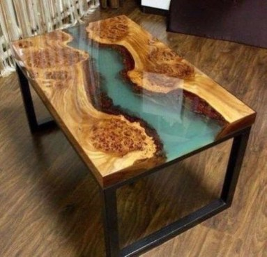 Classy Resin Wood Table Ideas For Your Furniture07