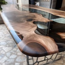 Classy Resin Wood Table Ideas For Your Furniture08
