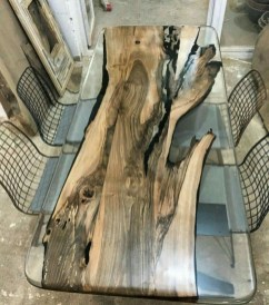 Classy Resin Wood Table Ideas For Your Furniture40