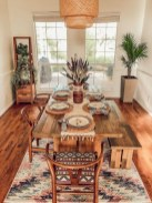Unordinary Dining Room Design Ideas With Bohemian Style01