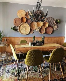 Unordinary Dining Room Design Ideas With Bohemian Style19