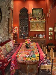 Unordinary Dining Room Design Ideas With Bohemian Style23