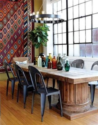 Unordinary Dining Room Design Ideas With Bohemian Style40