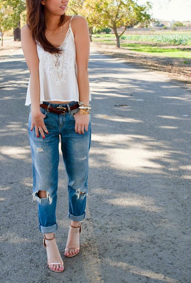Warna Cat Rumah Oren  comfort in boyfriend jeans trend envy