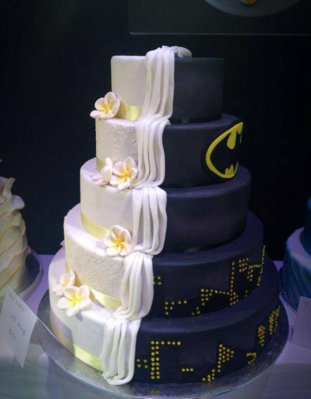 Beautiful His And Her Designer Wedding Cakes