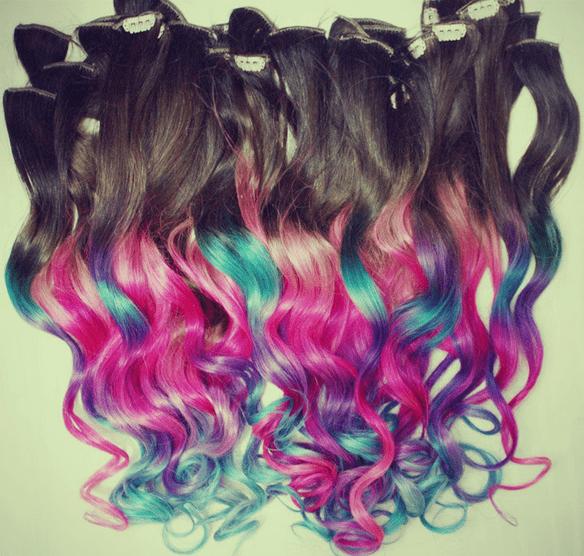 Hair Color Ideas For Black Women Bleached Hair Dip Dyed