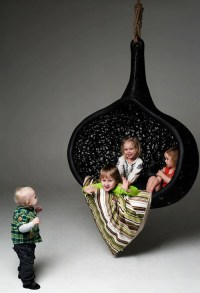 Cool Hanging Chair made of Volcanic Rock by Maffam Freeform