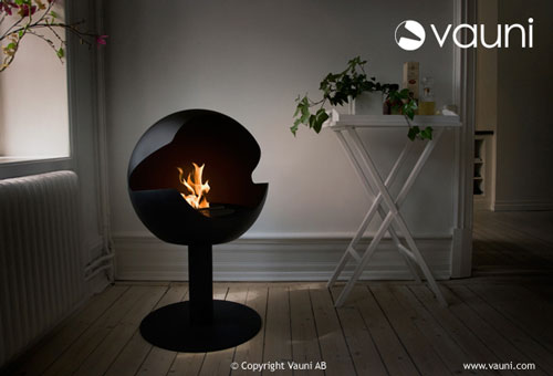 Indoor Outdoor BioEthanol Fireplace by Vauni
