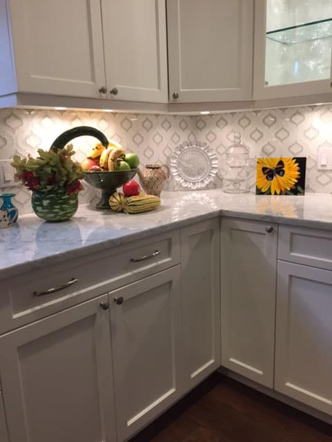 black and white tile kitchen backsplash & bath moroccan style glass from edgewater