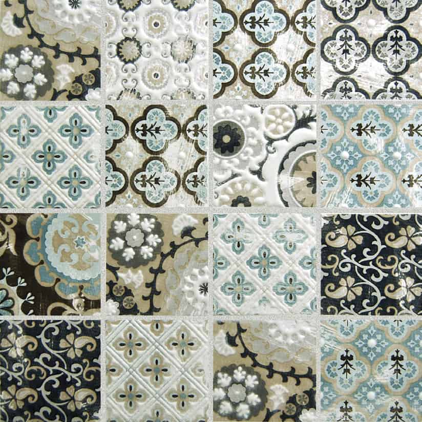 Patchwork Backsplash for Country Style Kitchen Ideas