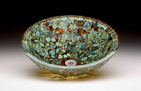 Glass Vessel Sinks by Alchemy Glass  Light  new