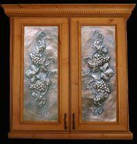 Metal cabinet door inserts.