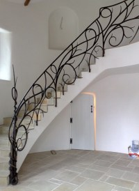 Hand Forged Iron Railings  custom staircase designs by ...
