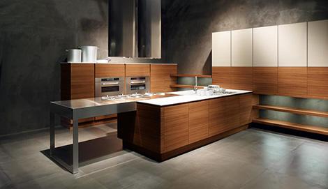 Minimalist Kitchen from Cesar  new Yara Kitchen lets wood