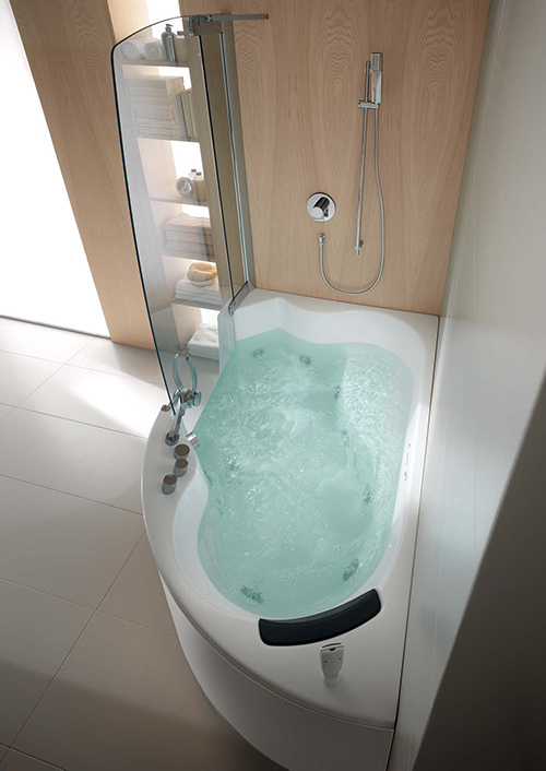 Corner Whirlpool Shower Combo by Teuco
