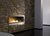CUSTOM OAK TELEVISION AND GAS FIREPLACE WALL UNIT  Fireplaces