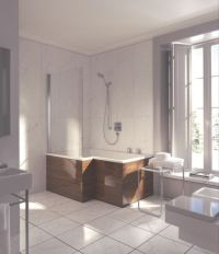 Duravit Seadream shower and bathtub combo
