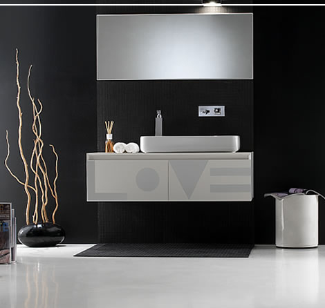 Black and White Bathroom sets and design ideas by Ext
