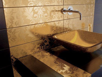 Gold Tiles From Dune High End Tile From Damasco Collection