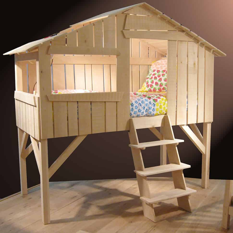 Kids Playhouse Beds from Mathy by Bols Loft Treehouse Canopy