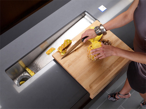 Kohler Crevasse Prep Sink  integrated garbage disposal and touch control
