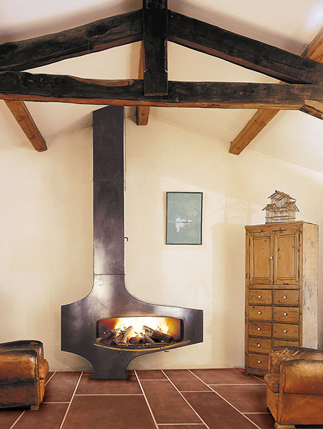 Loft Fireplace  industrial style fireplace by Focus