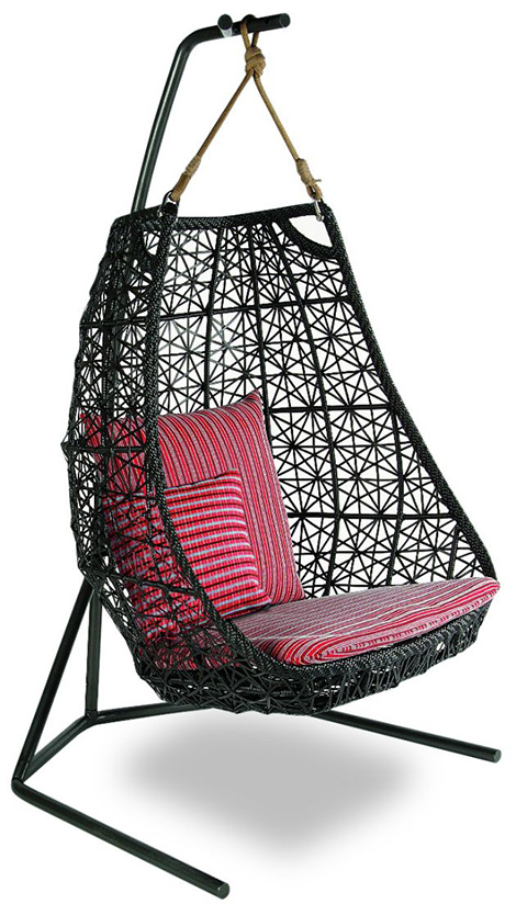 Hanging Swing Chair  patio rattan swing chair by Patricia