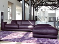 Purple Leather Sofa by Ditre Italia