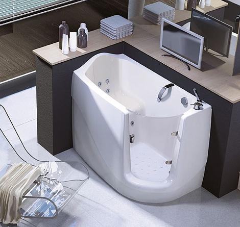 WalkIn Tubs  compact sitdown tub by Treesse