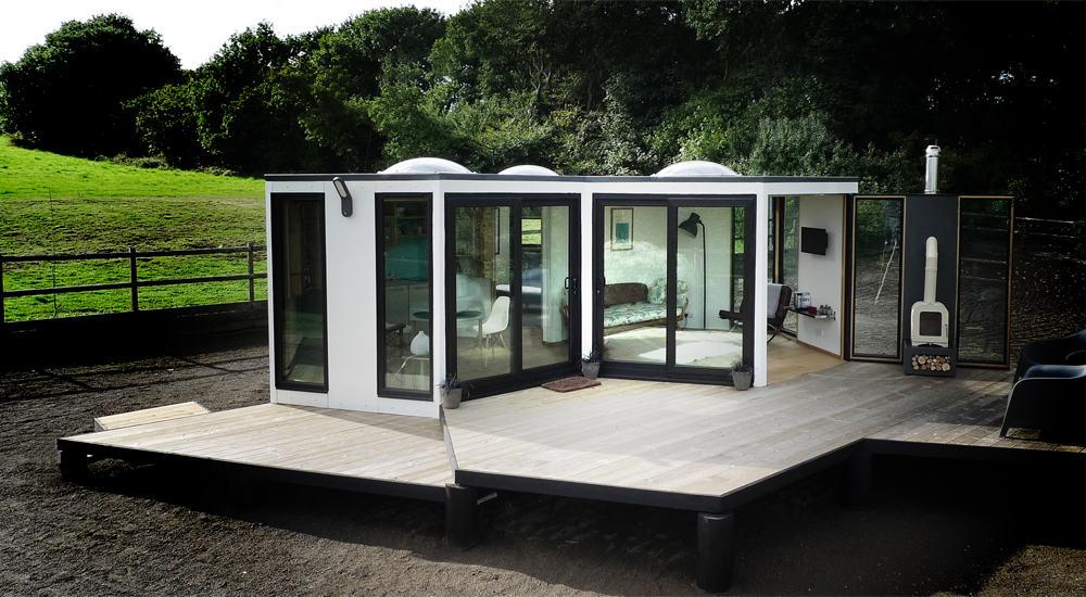 Flat Pack Hivehaus Transforms into Hexagonal Modular Homes