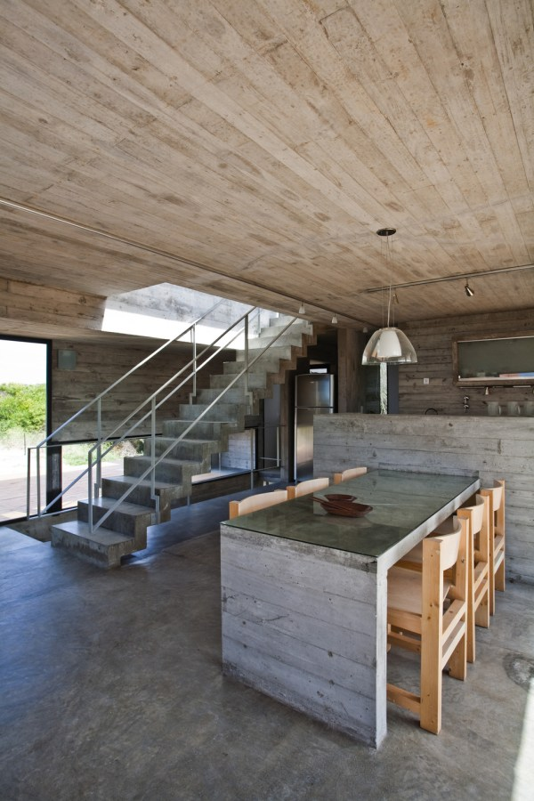 Bare Concrete Beach House Modern Design