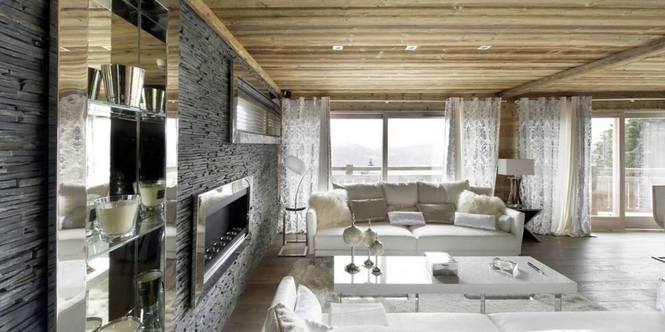 Elegant Hitech Ski Chalet in Courchevel  Modern House Designs