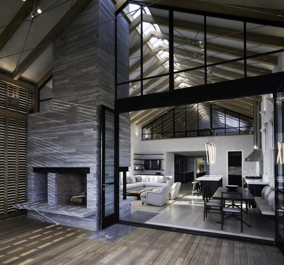 Unusual Barn Style Home With Slatted Wood Siding  Modern House Designs
