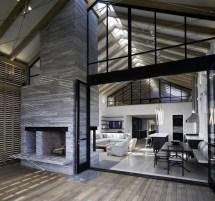 Modern Pole Barn House Interior