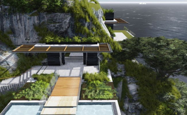 Poetic Home Design Concept Perches On Cliff Overlooking