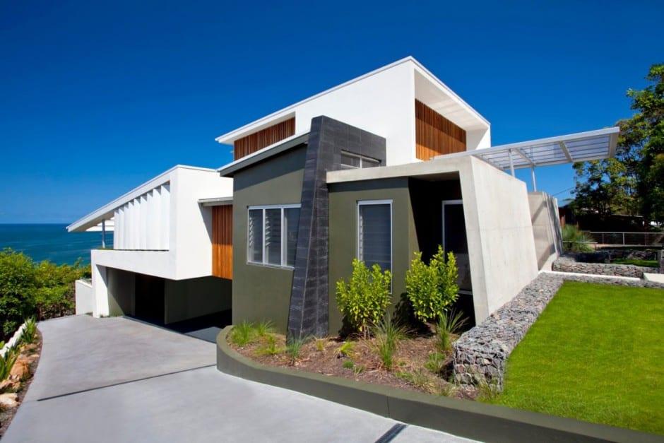 Bold Exterior Beach House with minimalist interiors  Modern House Designs