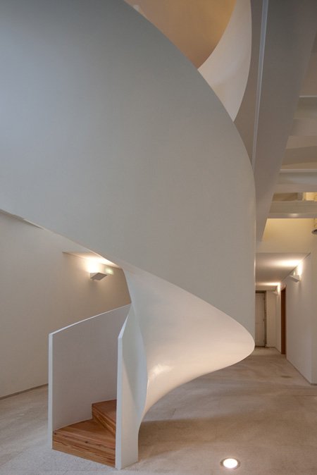 Contemporary Portuguese Architecture  Spiral Staircase for 6000 Books  Modern House Designs