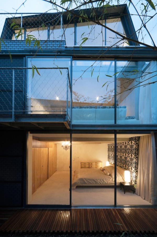 Cool City Homes  Tokyo Sky Court House  Modern House Designs