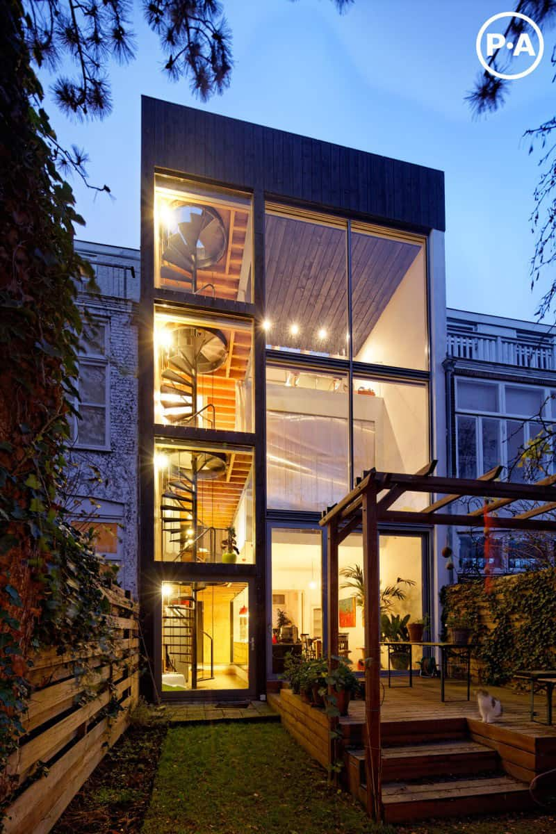 Cool Netherlands house with fourstory spiral staircase  Modern House Designs