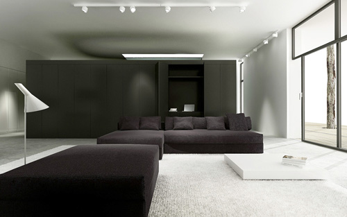 Curious Contemporary Curtain House in Poland  Modern