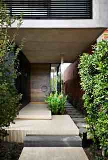 Contemporary Front Entrance Courtyard