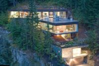 Mountain Chalet is built into the mountain, for a ...