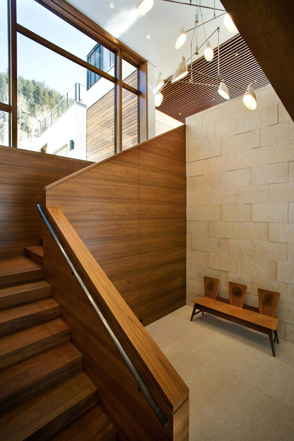 Linear Mountain House of Wood Glass and Chalet Charm  Modern House Designs