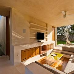 Back Of Sofa Facing Fireplace Cushion Set Modern Hacienda-style Guest House   Designs