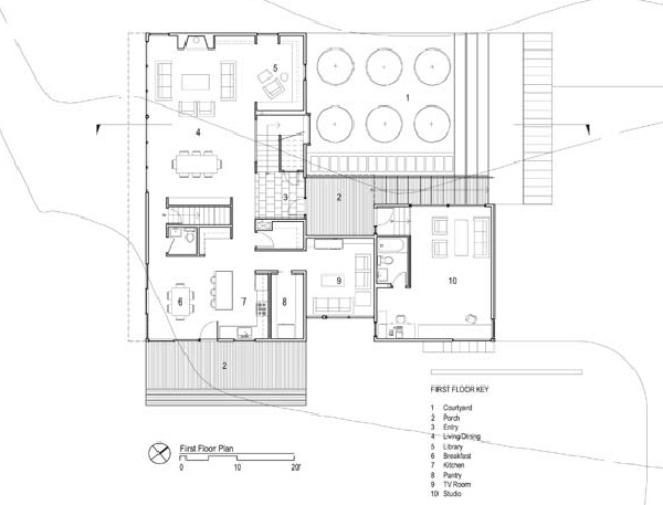 Contemporary Small Home Plans With Courtyard Small Home Plans