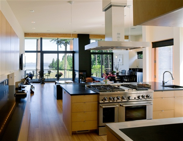 modern zen kitchen design Waterfront House Plans - Luxury Waterfront Home for Sale