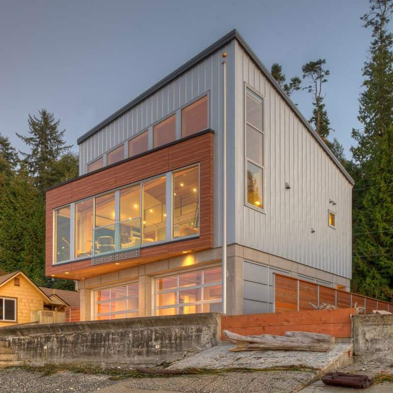 Tsunamiproof Waterfront House  Modern House Designs